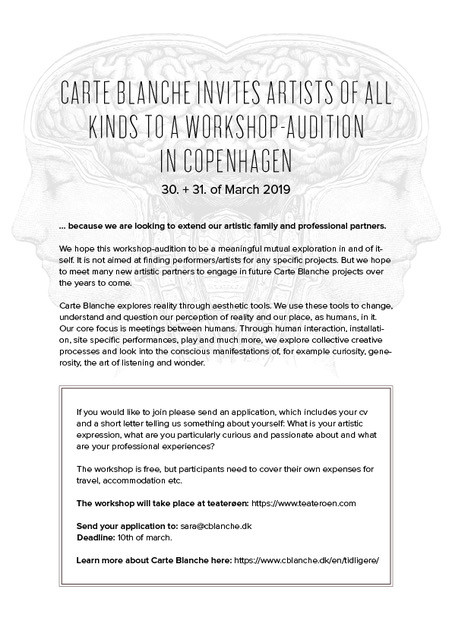 Workshop på Teaterøen 30.-31. marts