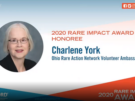 Cure CMD Volunteer Charlene York Honored as NORD Rare Impact Awardee