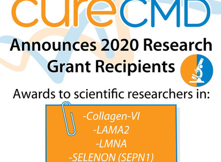 Cure CMD Announces 2020 Research Grant Recipients