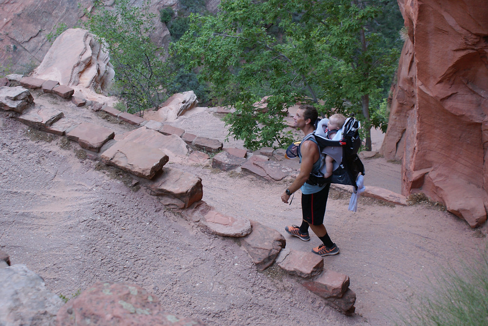 Hiking backpack by Osprey in Zion National Park