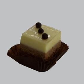 Bavarese ai tre cioccolati, bianco, latte e fondente