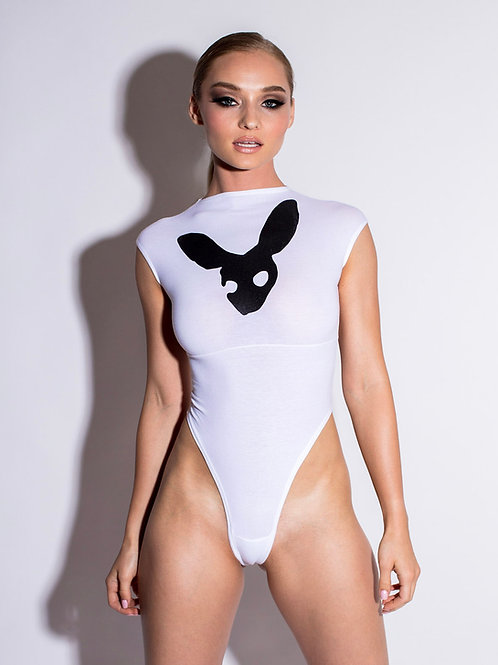 kinky bodysuit in white