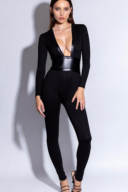 Kinky Black Bodysuit