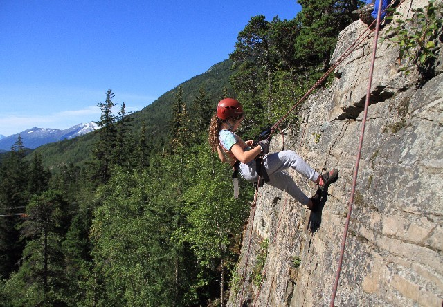 rock climbing-rappelling