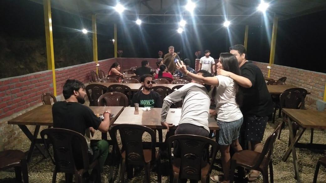 group enjoying in dining