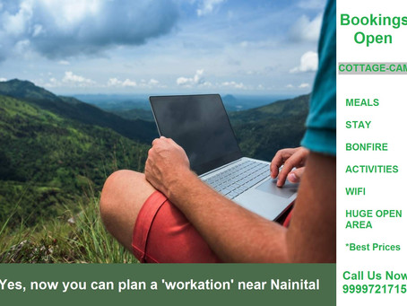 Enjoy a working vacation in the hills of Nainital. Get set to work from some gorgeous hills...