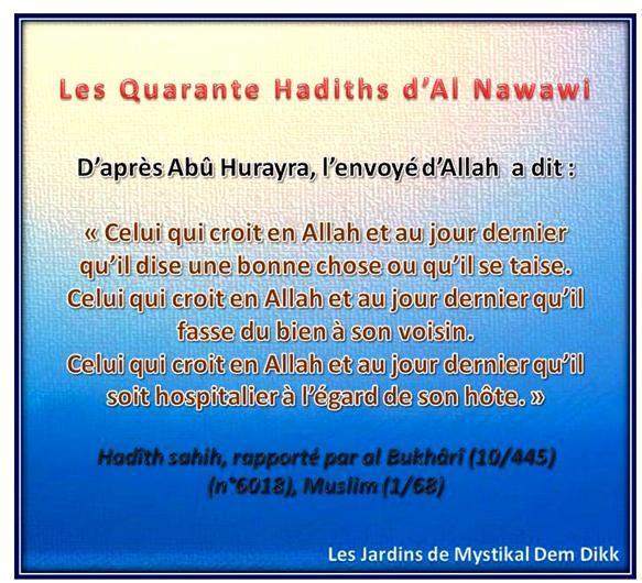 Les 40 hadiths de l'imam an Nawawi : Sur la foi et le comportement (adab)