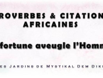 [Proverbe africain] : La fortune aveugle l'Homme x Mystikal Dem Dikk
