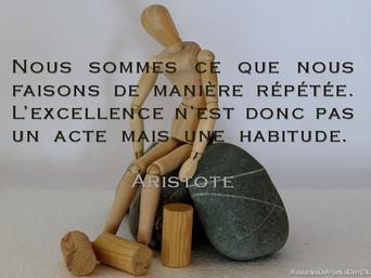 Nous sommes ce que nous faisons de manière répétée (Aristote) x Mystikal Dem Dikk