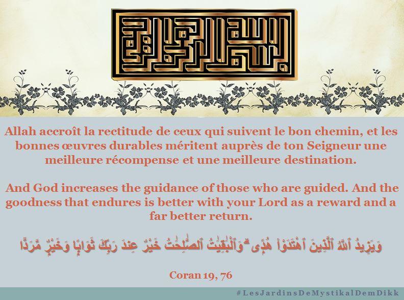 Coran 19, 76