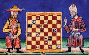 Partie d'échecs entre un juif et un musulman, El Libro de los Juegos, XIIIe siècle
