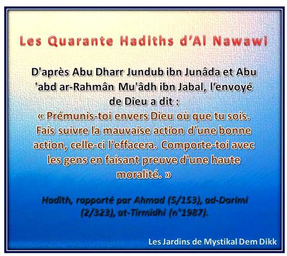 Les 40 hadiths de l'imam an Nawawi : Sur la piété