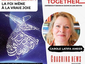 [Video] Webinaire: La foi mène à la vraie joie – Sur les pas de Rûmî, avec Carole Latifa Ameer