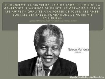 Nelson MANDELA : L'honnêteté, la sincérité, la simplicité ..