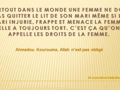 Ahmadou KOUROUMA : Les droits de la femme
