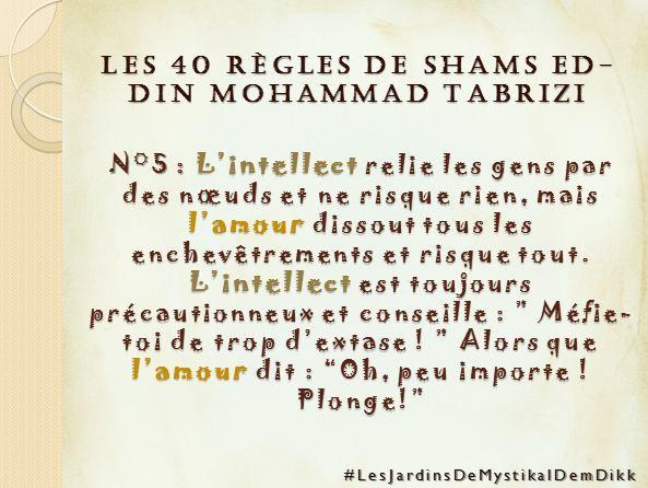 Règle 5 - Les 40 règles de Shams ed-Din