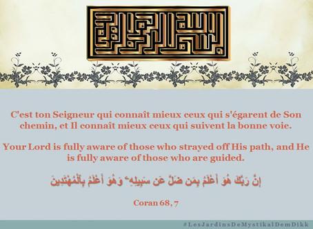 [Le verset du jour] Coran sourate 68, verset 7 : C'est ton Seigneur qui connaît mieux ceux qui s