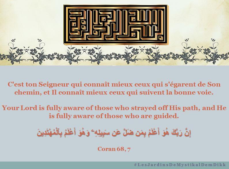 Coran 68, 7