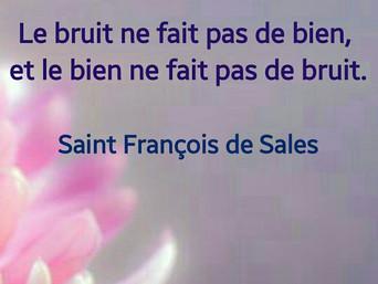François de Sales : Le bruit et le bien