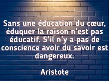[Citation] Aristote : Éducation et conscience..