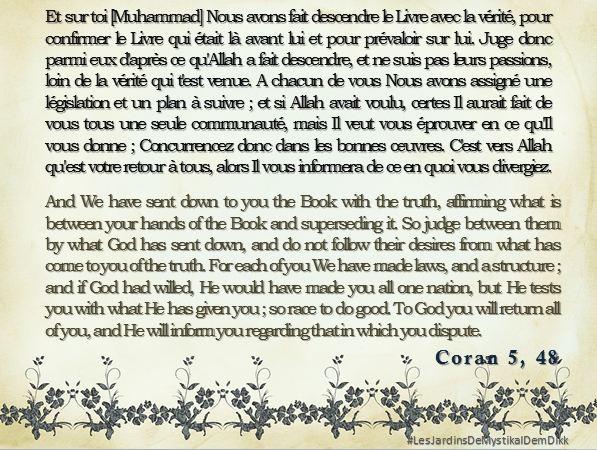 Coran 5, 48