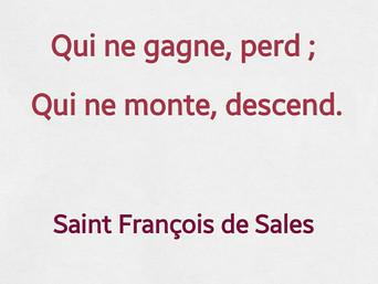 François de Sales : De demeurer en état de consistance longuement, il est impossible