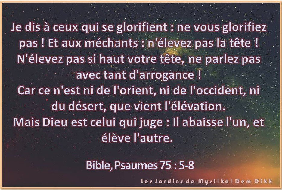 Bible, Psaume 75 : 5-8