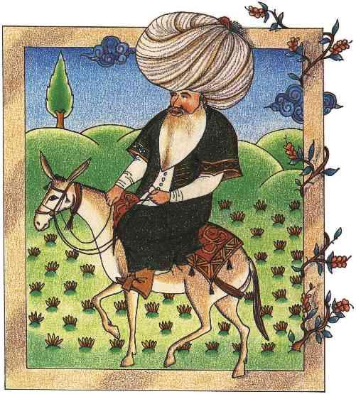 Miniature de Nasreddin Hodja, 171eme siècle