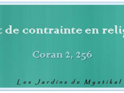 Abd el-Hafîd Benchouk : Point de contrainte en religion ! Coran 2, 256