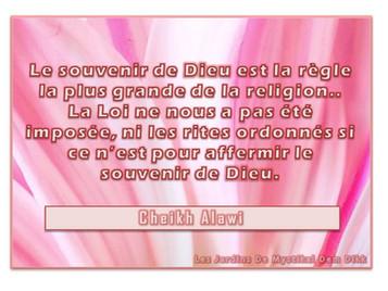 Cheikh Alawi : Sur le souvenir de Dieu