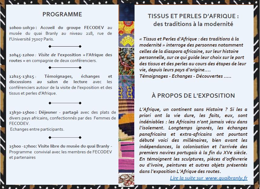 Programme rencontre Quai Branly