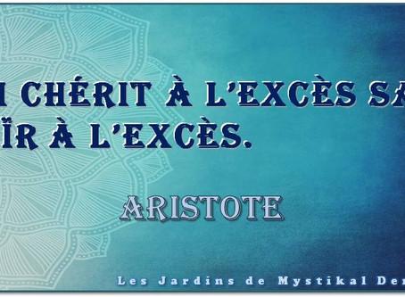 Aristote : Qui chérit à l'excès..
