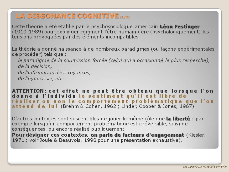 Dissonnance Cognitive 1