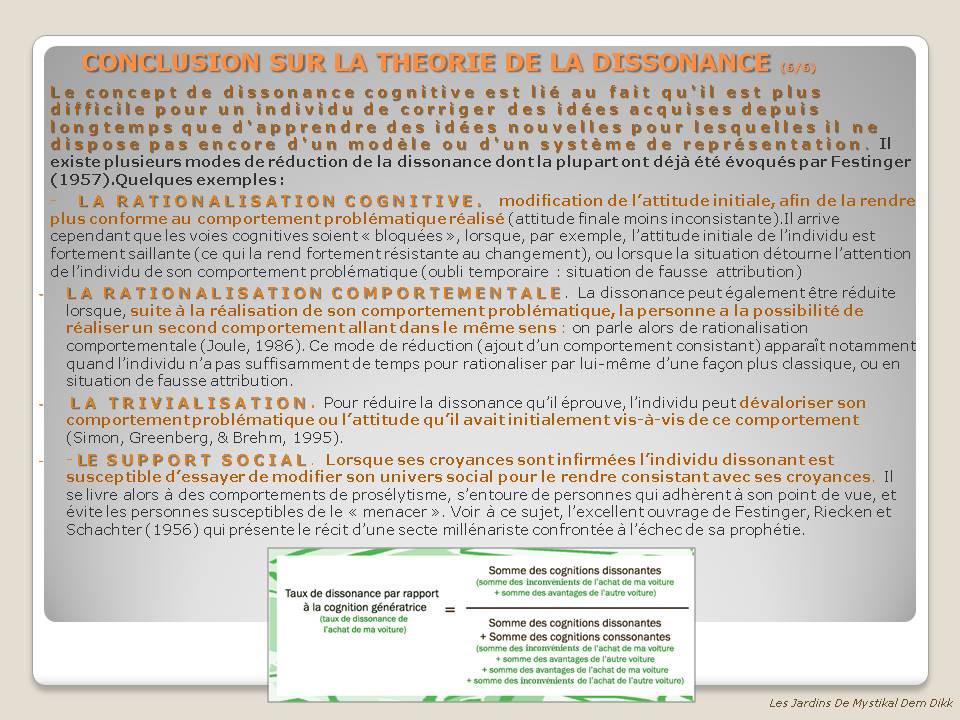 Dissonnance Cognitive 6