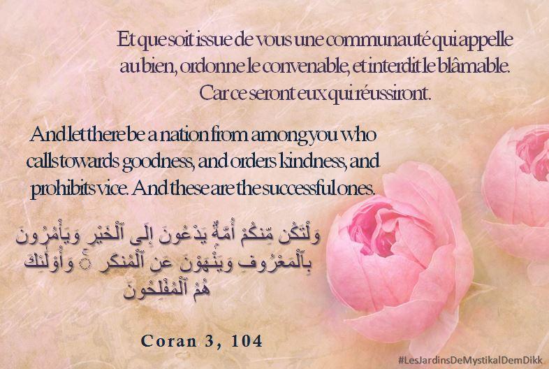 Coran 3, 104