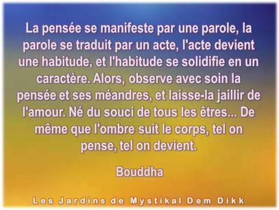 Bouddha : Tel on pense, tel on devient..