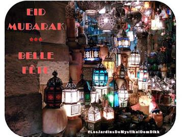 Eid Mubarak - Excellente fête de l'Eid al fitr