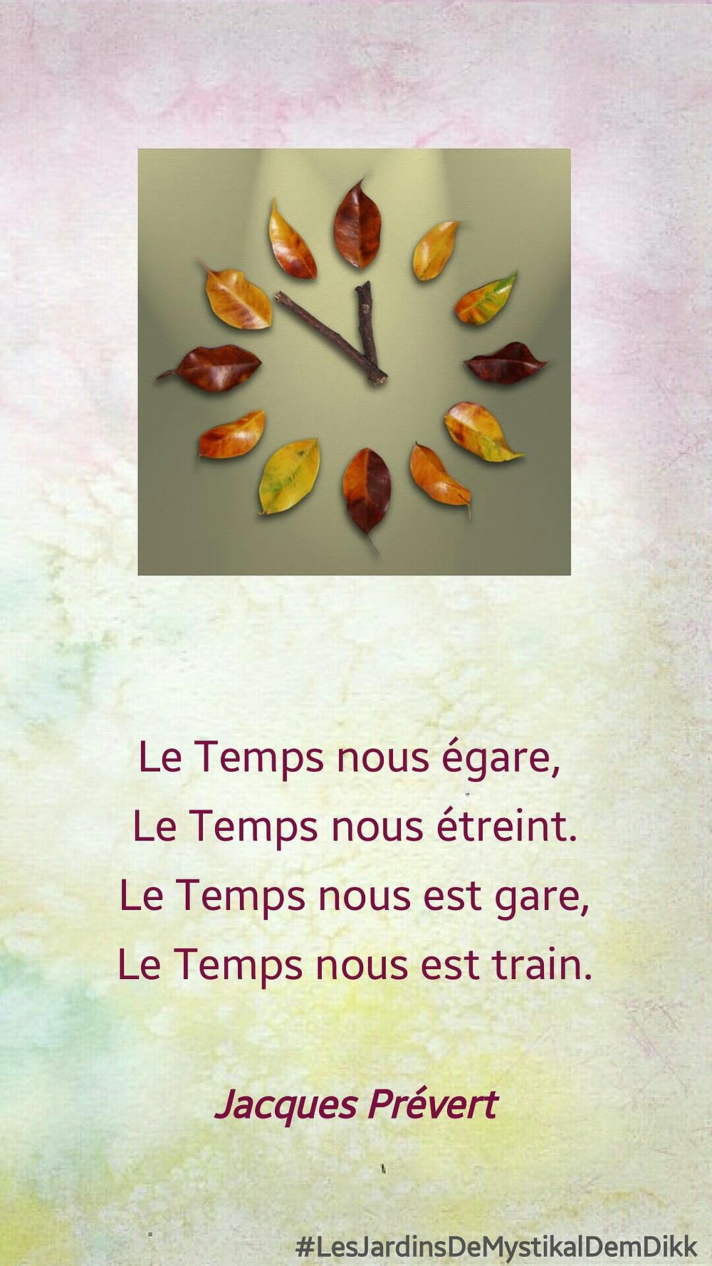 Jacques PREVERT - Le Temps