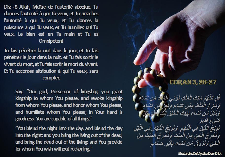 Coran 3, 26 - 27