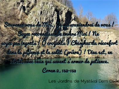 [Le verset du jour] Souvenez-vous de Moi, Je me souviendrai de vous.. Coran 2, 152-153