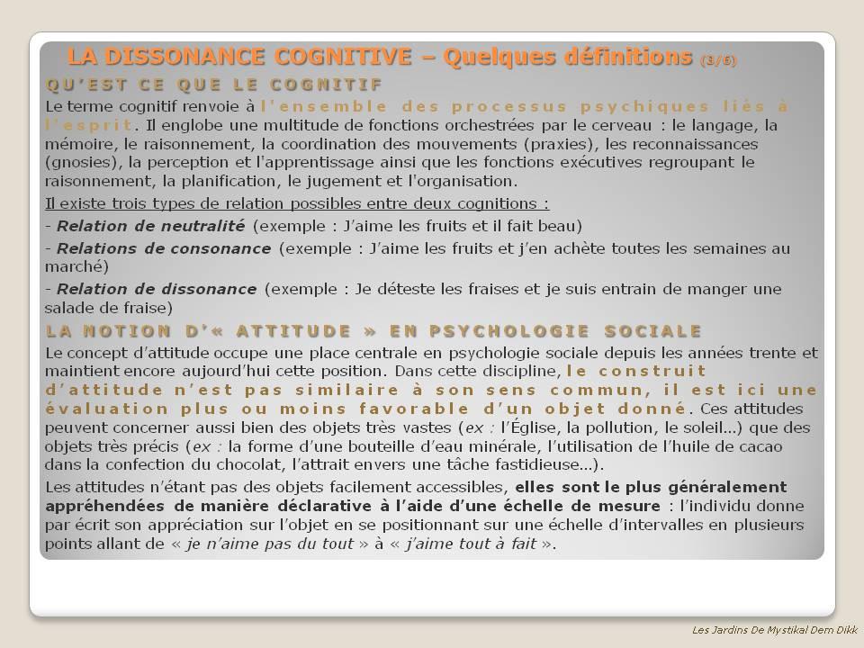 Dissonnance Cognitive 3