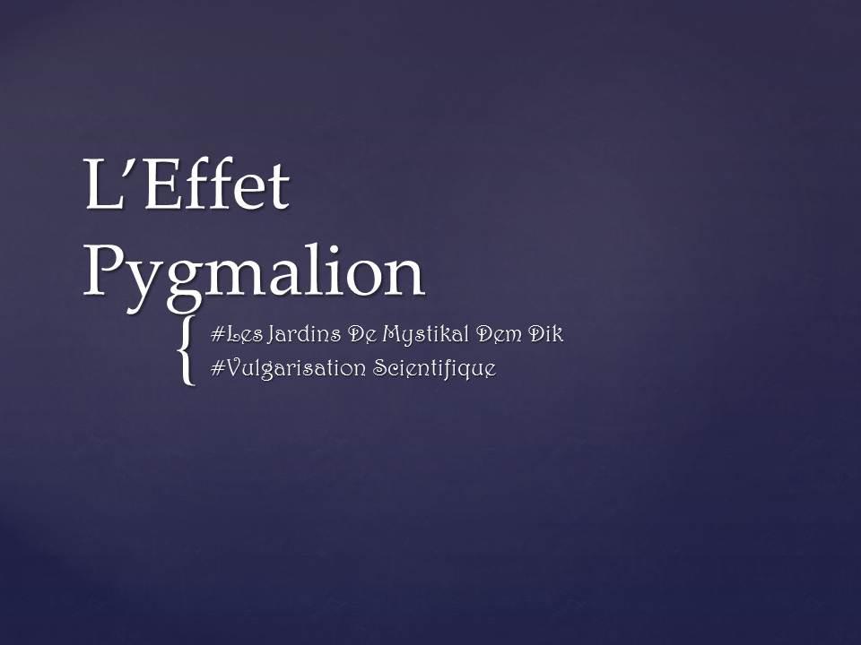 Effet Pygmalion 1