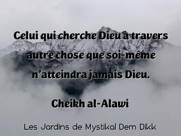 Cheikh al-Alawi : Celui qui cherche Dieu à travers autre chose que soi-même..