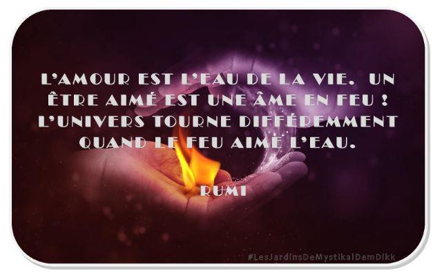 l'amour est l'eau de la vie - Rumi