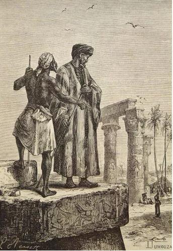 Ibn Battûta en Égypte. Lithographie du XIXe siècle de Léon Benett