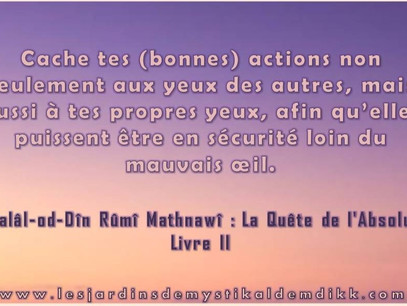 [Extrait] Rumi : Cache tes (bonnes) actions..