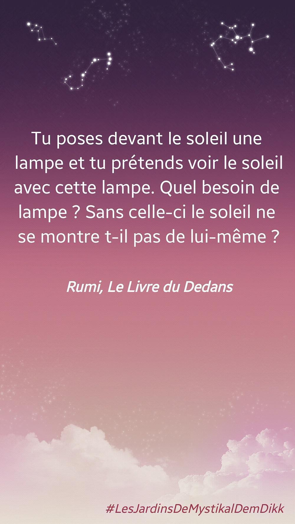 Rumi, Le Livre du Dedans