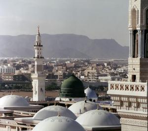 Vue de la mosquée du prophète Muhammad à Medine