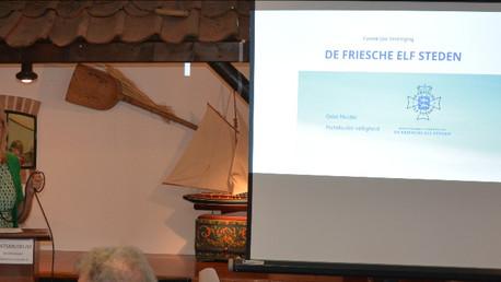 Boeiende lezing Oeke Mulder in Schaatsmuseum Hindeloopen