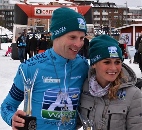 Bob de Vries en Irene Schouten winnen slotwedstrijd in Zweden